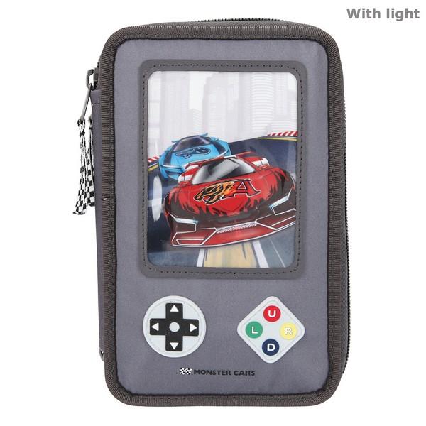 Monster Cars Kleurpotloden & Viltstiften Etui met licht Spelcomputer