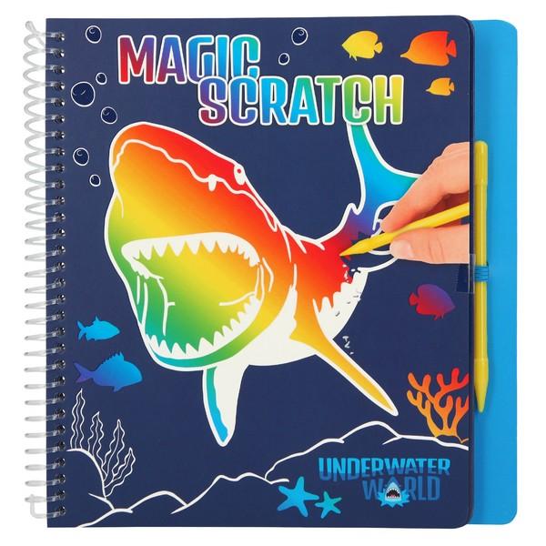 Dino World Magic Scratch Kleurboek Haai