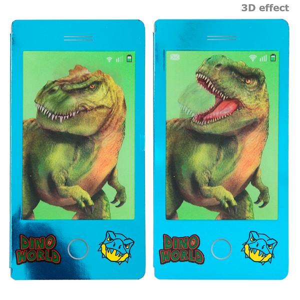 Dino World Mini Kleurboek Blauw