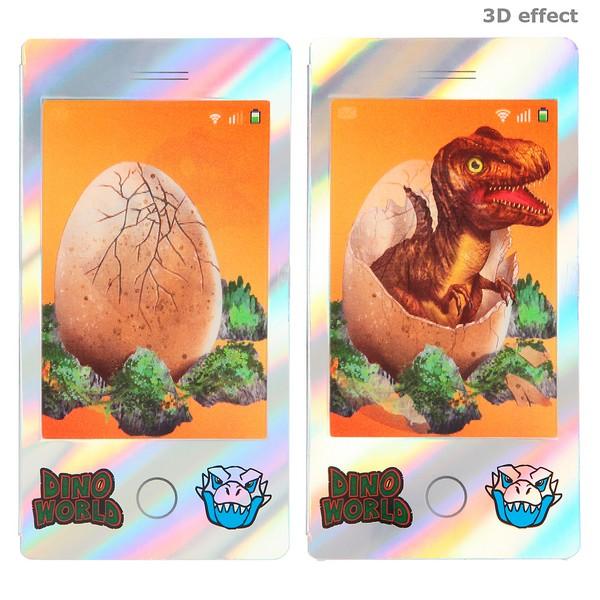 Dino World Mini Kleurboek Zilver