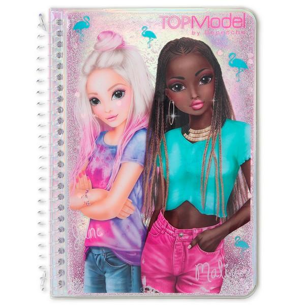 TOPModel Glitter Notitieboekje June & Malia