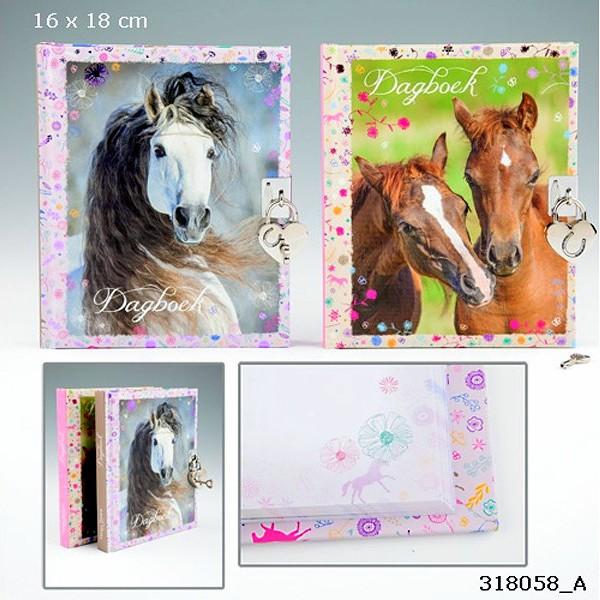 Horses Dreams Dagboek Glitterbloemen