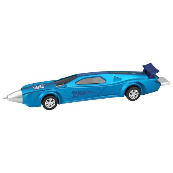 Monster Cars Balpen met duweffect Blauw