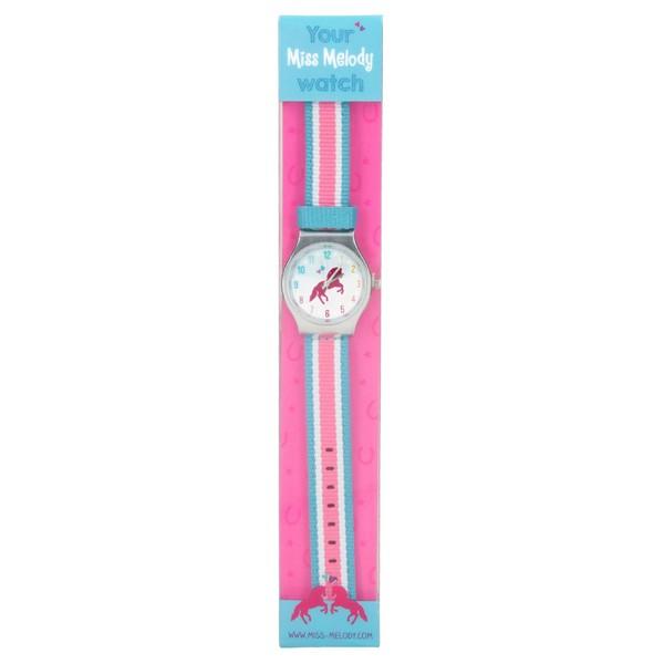 Miss Melody Horloge Lichtblauw-Roze