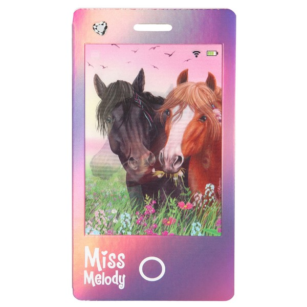 Miss Melody Smartphone Kladblok Black Angel & Pelly