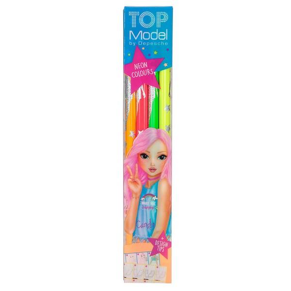TOPModel Neon Kleurpotloden (4 stuks)