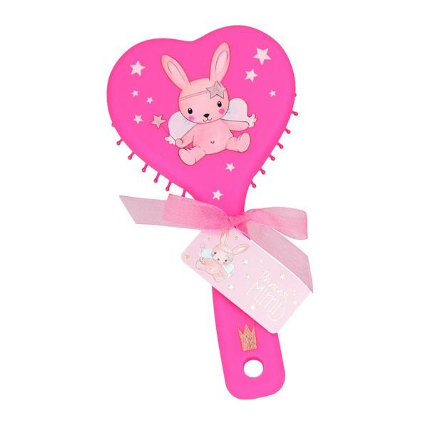 Princess Mimi Haarborstel neon roze
