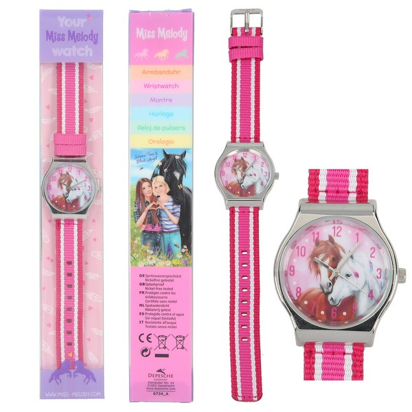 Miss Melody Horloge Roze-Rood