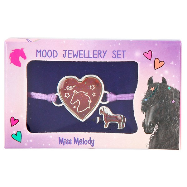 Miss Melody Stemming Armband en Ring Paars