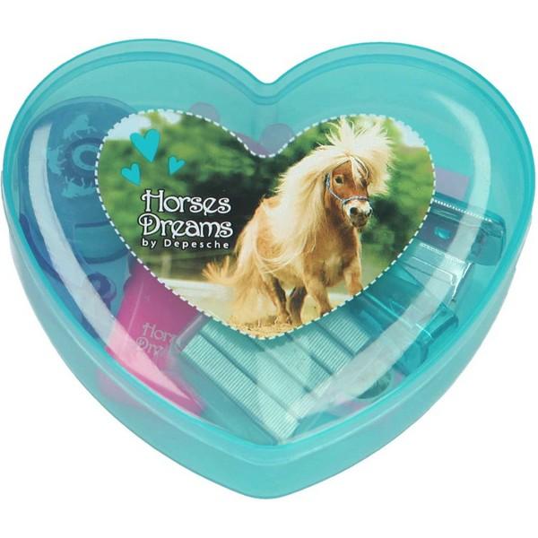 Horses Dreams Schrijfwarenset Blauw