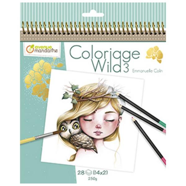 Avenue Mandarine Kleurboek Coloriage Wild 3