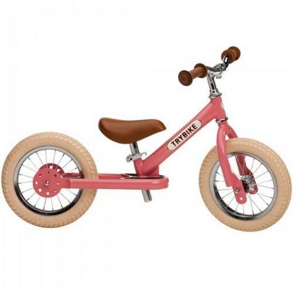 Trybike Staal Vintage Roze tweewieler