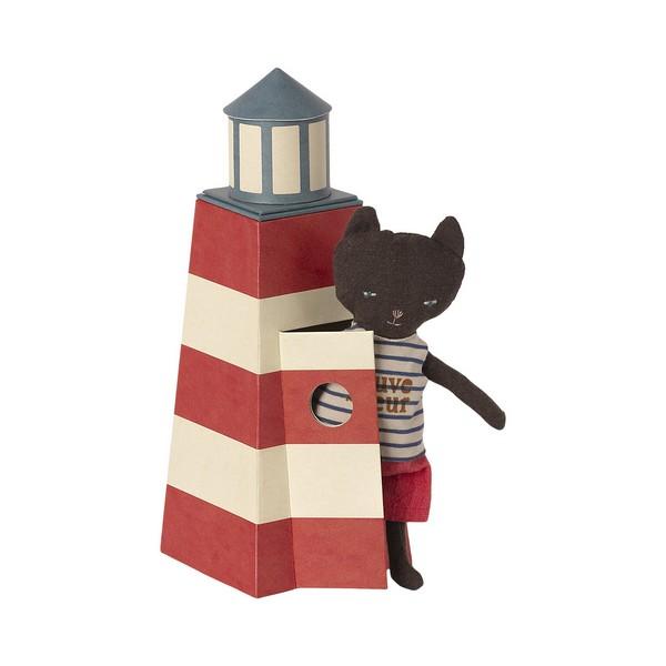 Maileg Strandwacht Kat in Vuurtoren