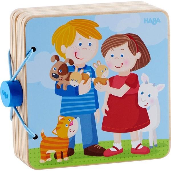 Babyboek hout Dierenkinderen