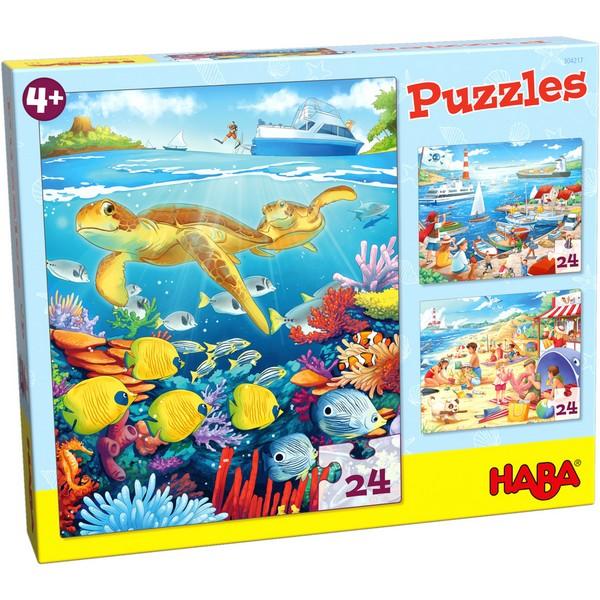 3-in-1-Puzzel Aan zee