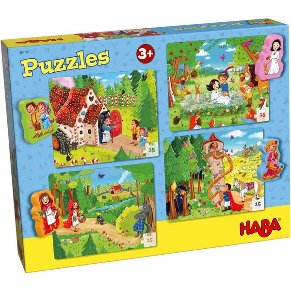 4-in-1-Puzzel Sprookjesland