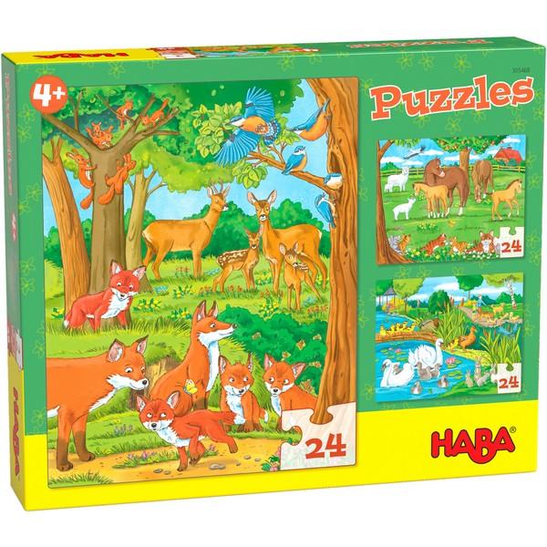 3-in-1-Puzzel Dierenfamilies