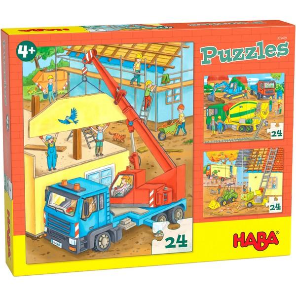 3-in-1-Puzzel Op de bouwplaats