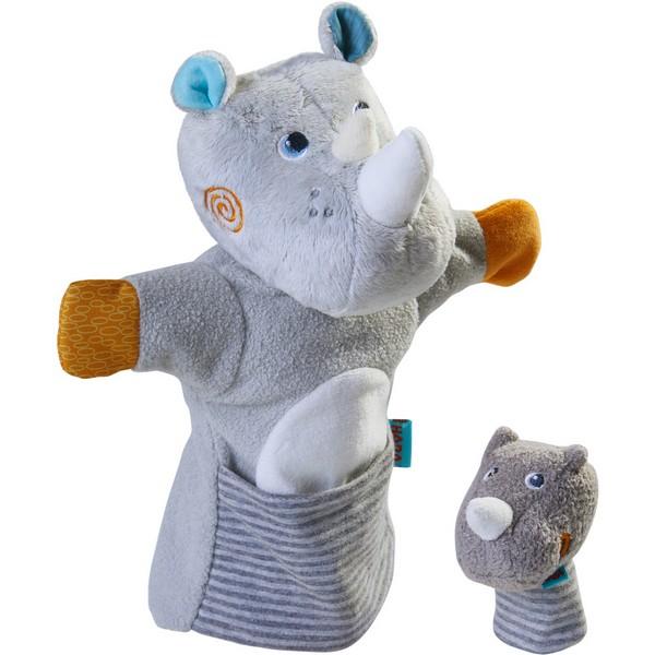 Handpop Neushoorn met Baby