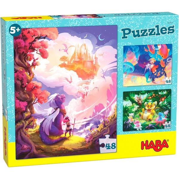 3-in-1-Puzzel In Fantasieland