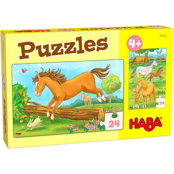 2-in-1-Puzzel Paarden