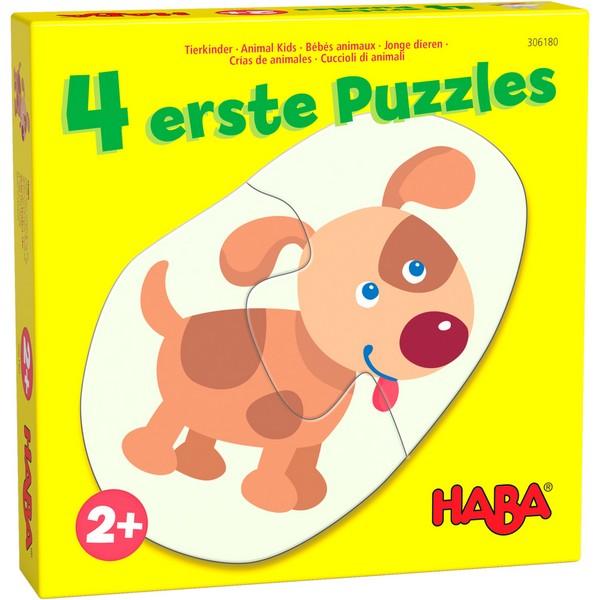 4 eerste puzzels Jonge Dieren