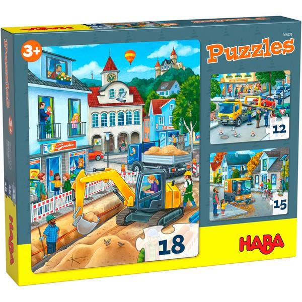 3-in-1-Puzzel In de stad