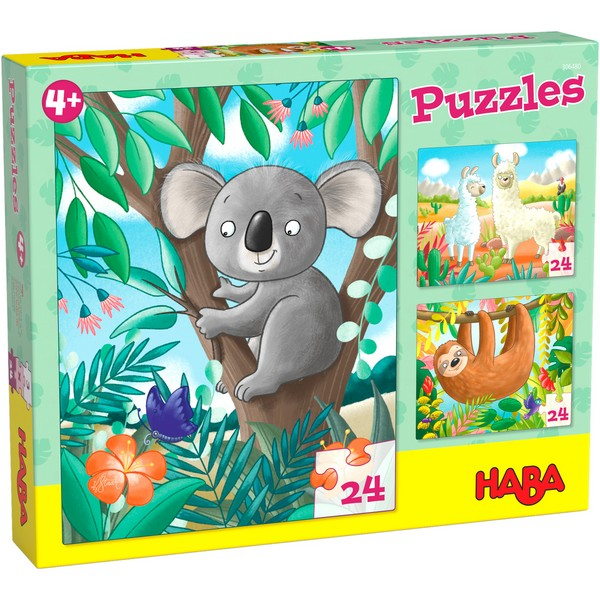 3-in-1-Puzzel Koala, Luiaard & Co.